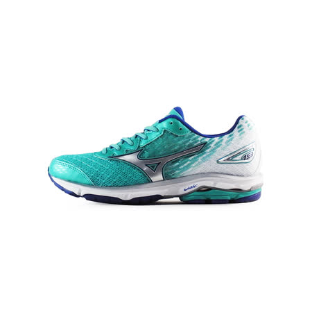 Mizuno 女 WAVE 慢跑鞋 WAVE RIDER 19 (W) 美津濃 慢跑鞋 湖水藍 J1GD160304