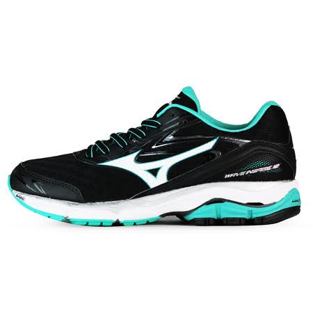 Mizuno 女 WAVE 慢跑鞋 WAVE INSPIRE 12 (W) 美津濃 慢跑鞋 黑 J1GD164406
