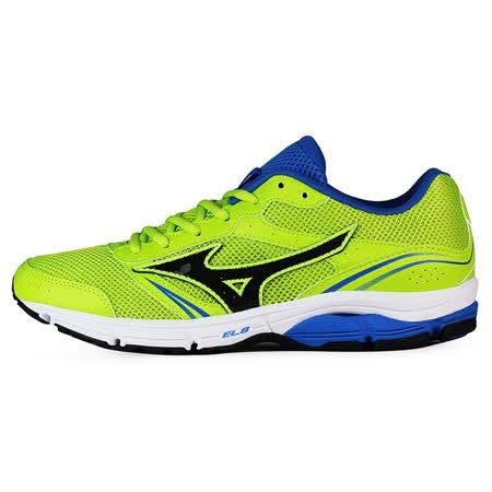 Mizuno 男 WAVE 慢跑鞋 WAVE IMPETUS 3 美津濃 慢跑鞋 螢綠 J1GE151311