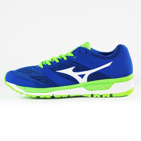 Mizuno 男 慢跑鞋MIZUNO SYNCHRO MX 美津濃 慢跑鞋 藍 J1GE161902