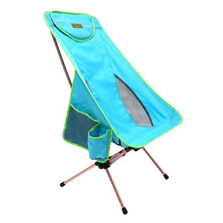 【OutdoorBase】AMOEBA 阿米巴 航太鋁合金 高背 二段 輕便 休閒 折疊 椅(附收納袋) 天空藍 25773
