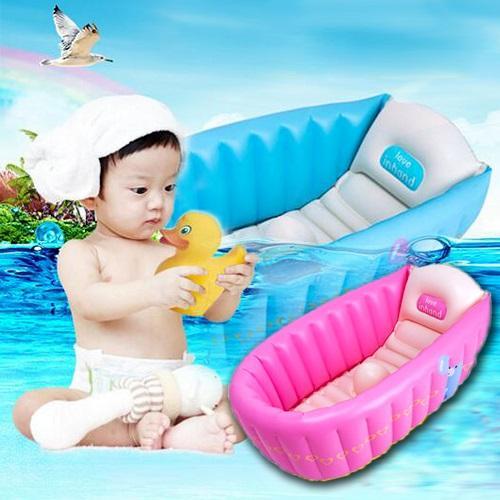 買達人 新款嬰兒洗澡盆/充氣澡盆/浴盆一入組 一入組