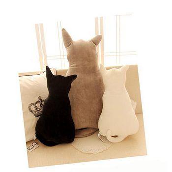 買達人 超療癒系貓咪背影抱枕/靠枕(45cm) 一入