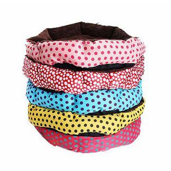 買達人 彩色點點寵物睡窩 睡床-小(40*30cm) 小(40*30cm)