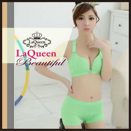LaQueen膠原蛋白運動內褲(綠)