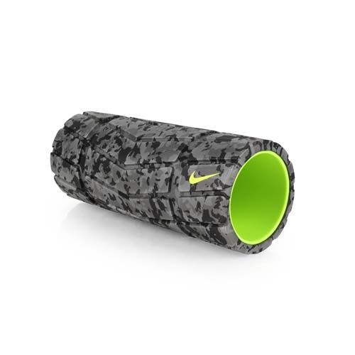 NIKE 輔助滾筒-瑜珈大 遠 百 logo滾輪 瑜珈柱 按摩滾輪 訓練 灰黑 F