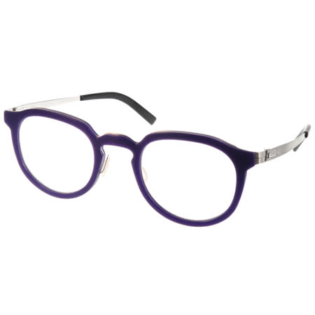 BYWP 光學眼鏡 文青復古風味圓框款 (紫-銀) #BY13043 LIC
