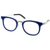 BYWP 光學眼鏡 簡約別緻個性半圓框 (藍) #BY14033 INKBS