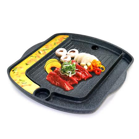 QUEEN SENSE 韓國原裝鋁合金不沾黏長方形煎蛋烤盤 (37CM)