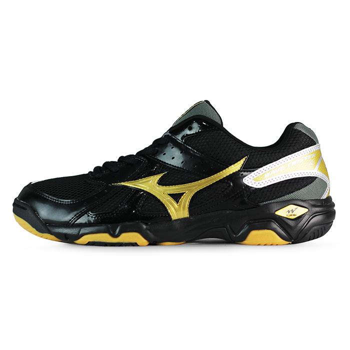 Mizuno 男 排球鞋 WAVE TWISTER 4 美津濃 排羽球鞋 黑 V1GA15
