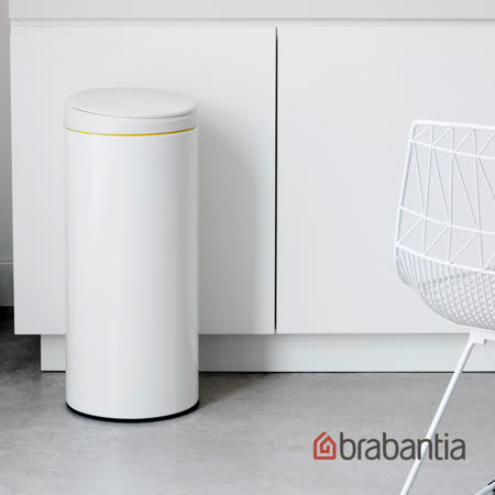 【荷蘭BRABANTIA】 新掀式垃圾桶-純淨白(30L)