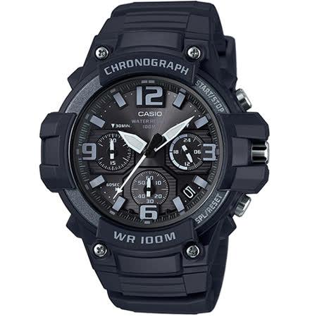 CASIO 卡西歐 時尚基本款大錶面用動腕錶/MCW-100H-1A3