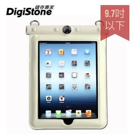 DigiStone iPad 9.7吋平板電腦防水袋/保護套/可觸控(溫度計型)適9.7吋以下平板-白色