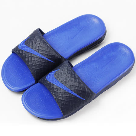 NIKE  男  BENASSI SOLARSOFT    拖鞋  藍/黑  705474440