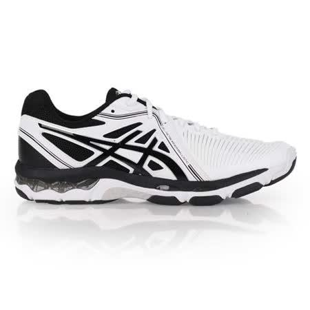 (男) ASICS GEL-NETBURNER BALLISTIC排羽球鞋 白黑