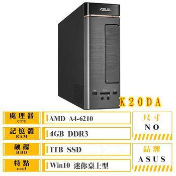 ASUS K20DA-0031A621UMT# (AMD A4-6210/4G/1TB/DRW/Win10) 迷你桌上型電腦