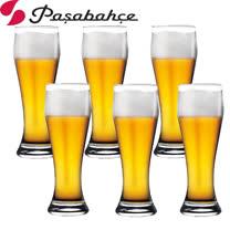 土耳其Pasabahce曲線啤酒杯415cc-六入組