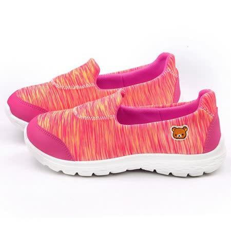 童鞋城堡-拉拉熊 女款 時尚輕量休閒鞋KM8221-橘