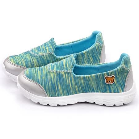 童鞋城堡-拉拉熊 女款 時尚輕量休閒鞋KM8221-綠