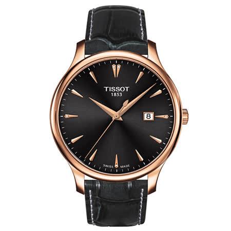 TISSOT 天梭 Tradition 真鑽經典大三針石英腕錶/42mm/T0636103608600