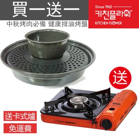 【中秋烤肉整套組】兩用式火鍋烤盤 (可分離式) + 薄型卡式爐