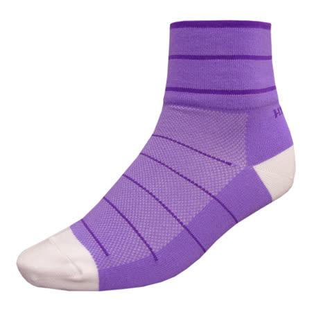 【hilltop山頂鳥】吸濕排汗抑菌多功能寬口短襪H47XE0-紫丁香/深紫