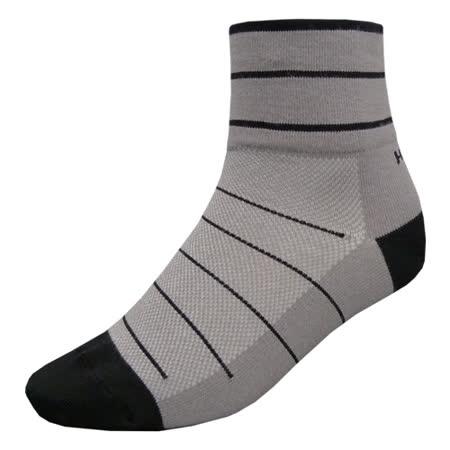 【hilltop山頂鳥】吸濕排汗抑菌多功能寬口短襪H47XE0-灰/黑
