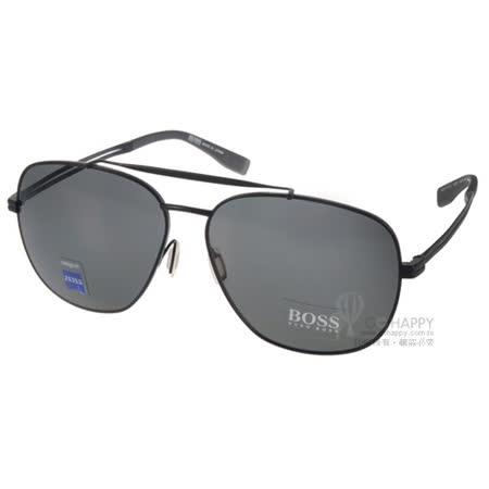HUGO BOSS太陽眼鏡 男士經典大框偏光款(黑) #HB0721FS HDQ7O