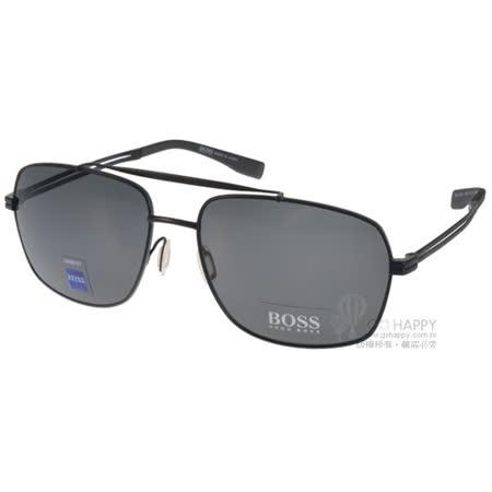 HUGO BOSS太陽眼鏡 男士時尚飛行偏光款(黑) #HB0722FS HDQ7O