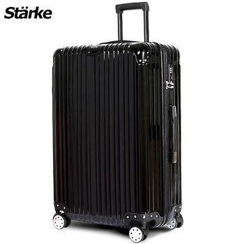 Starke 德國設計 28吋PC+ABS鏡面防爆拉鍊硬殼行李箱 axs97-黑色 008002-04