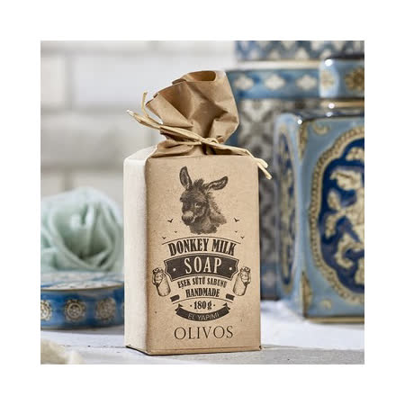 【Olivos 奧莉芙的橄欖】滋養修護驢奶皂(盒裝)180g