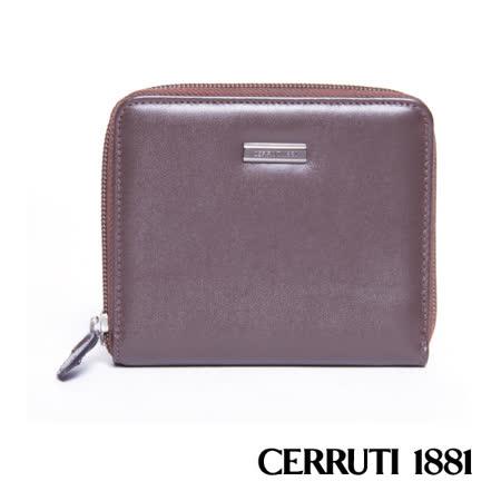 CERRUTI 1881 義大利製-拉鍊短夾包 030F-56902