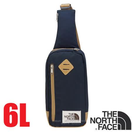 【美國 The North Face】新款 6L 多功能耐磨單肩側背包.斜背包.隨行提包.零錢包/復古風格.可放IPhone等3C用品/CJ4T 都會藍/芥末棕