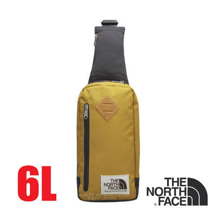 【美國 The North Face】新款 6L 多功能耐磨單肩側背包.斜背包.隨行提包.零錢包/復古風格.可放IPhone等3C用品/CJ4T 霧古銅/墨灰