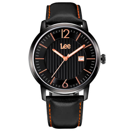 Lee  條紋紳士時尚腕錶-LEF-M09DBL1-1R