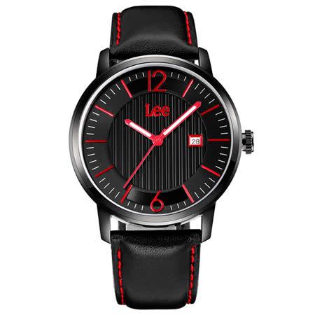 Lee  條紋紳士時尚腕錶-LEF-M09DBL1-14