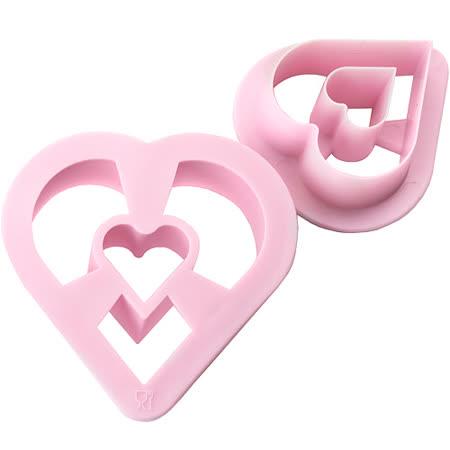 《IBILI》Sweet大小甜甜圈模2件(愛心)
