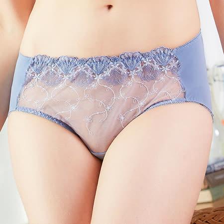 【EASY SHOP】浪漫祈禱 中腰三角褲(藍紫色)
