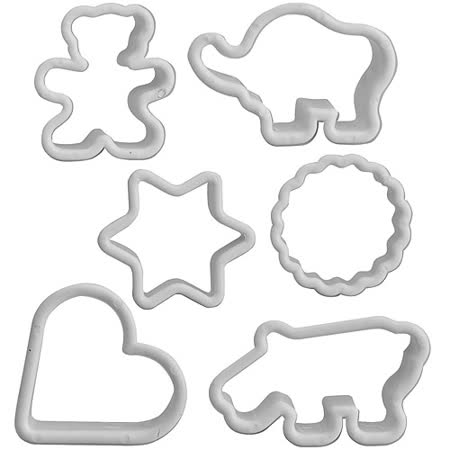 《IBILI》餅乾模6件(幾何動物)