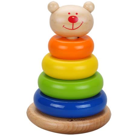 Classic world 德國經典木玩客來喜 熊熊套圈圈