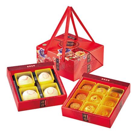 【台灣綠源寶】M6綠豆椪奶黃酥雙層禮盒