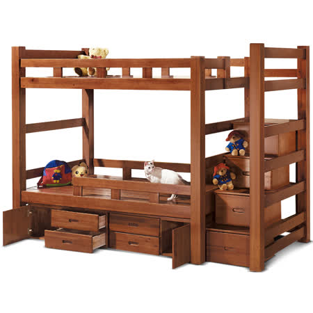 MY傢俬 機能收納樓梯多功能3.6尺雙層床