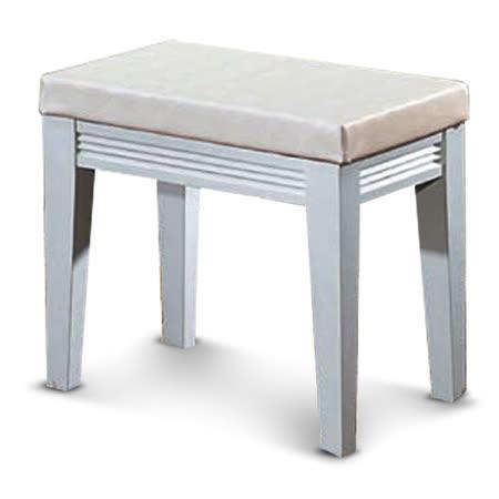 MY傢俬 純白簡約橫紋化妝椅
