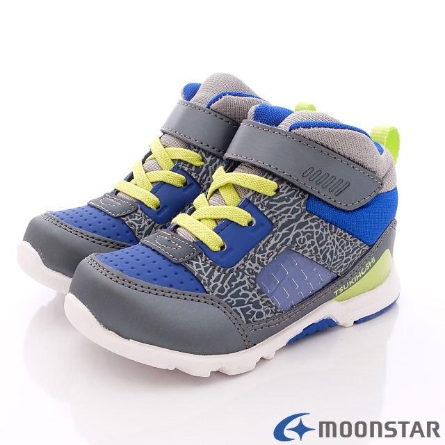 日本Carrot機能童鞋-日系風短筒護踝款-(KC54A1灰藍-15-20cm)