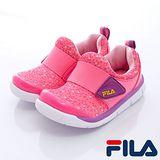 FILA頂級童鞋款-粉彩點點休閒鞋858Q-299粉-(14cm~19cm)