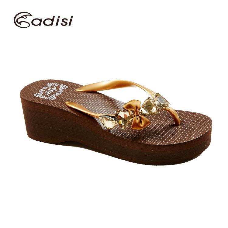 ADISI 女款水鑽高跟夾腳拖鞋AS16010 城市綠洲