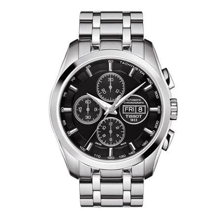 TISSOT 天梭 建構師系列三眼計時男用機械腕錶/43mm/T0356141105101