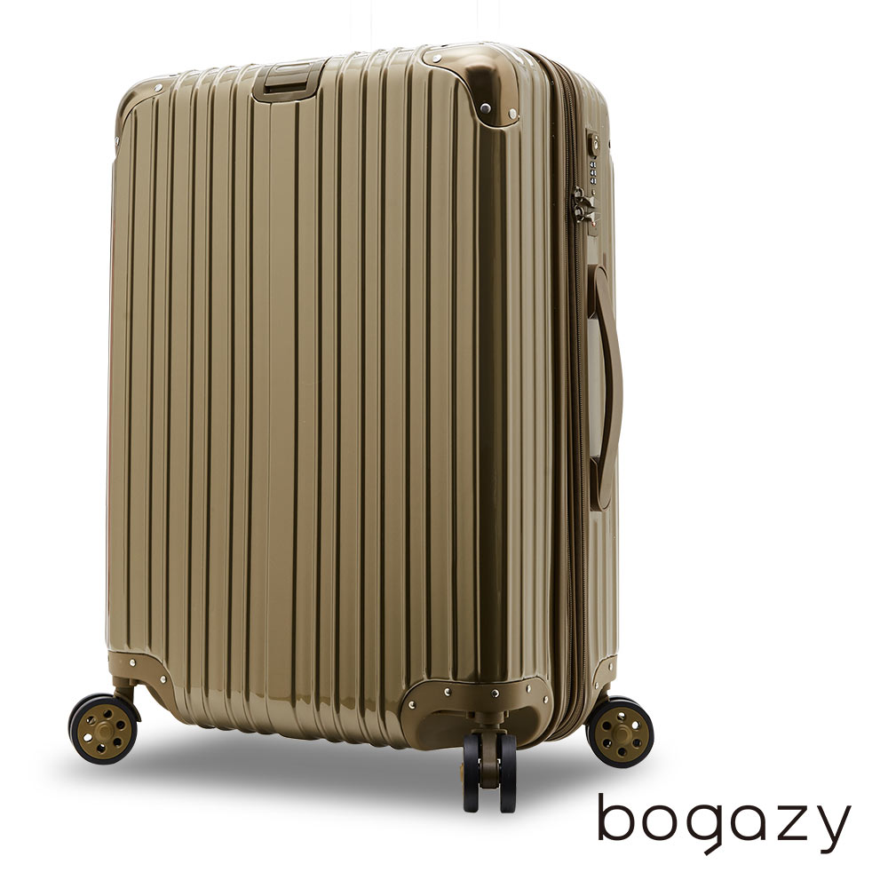 【Bogazy】祕密花園 20吋PC可加新竹 sogo大鏡面行李箱(閃耀金)
