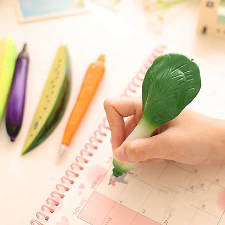 【PS Mall 】韓版文具水果蔬菜造型圓珠筆 可吸磁鐵_2入 (J1112)