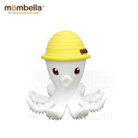 英國《mombella 》樂咬咬章魚固齒器(黃色)